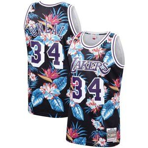 Los Angeles Lakers Shaquille O'Neal Floral Jersey